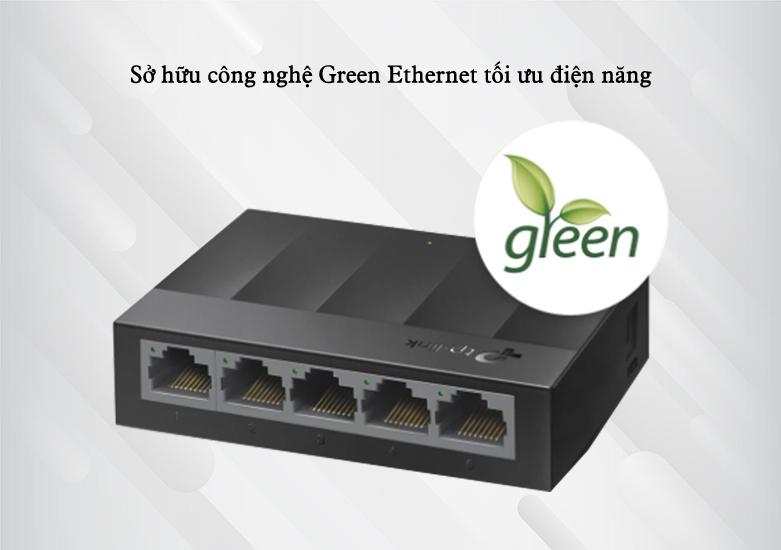 Switch TP-Link LS1005G 5-Port 10/100/1000Mbps | Sở hữu công nghệ Green Ethernet tối ưu điện năng