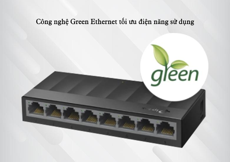 Switch TP-Link LS1008G 8-Port 10/100/1000Mbps | công nghệ Green Ethernet tối ưu