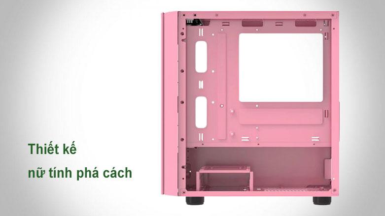 Case Xigmatek OMG Queen EN45631 (No Fan) | Thiết kế màu hồng cá tính