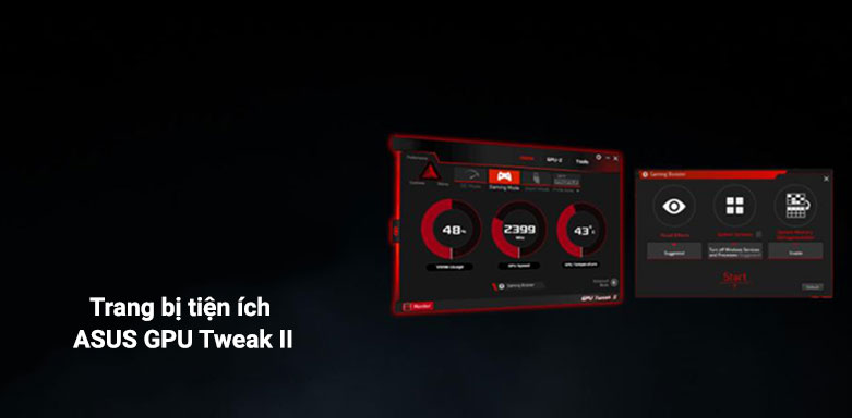 VGA ASUS ROG Strix GeForce RTX 3060 12G | ASUS GPU Tweak II