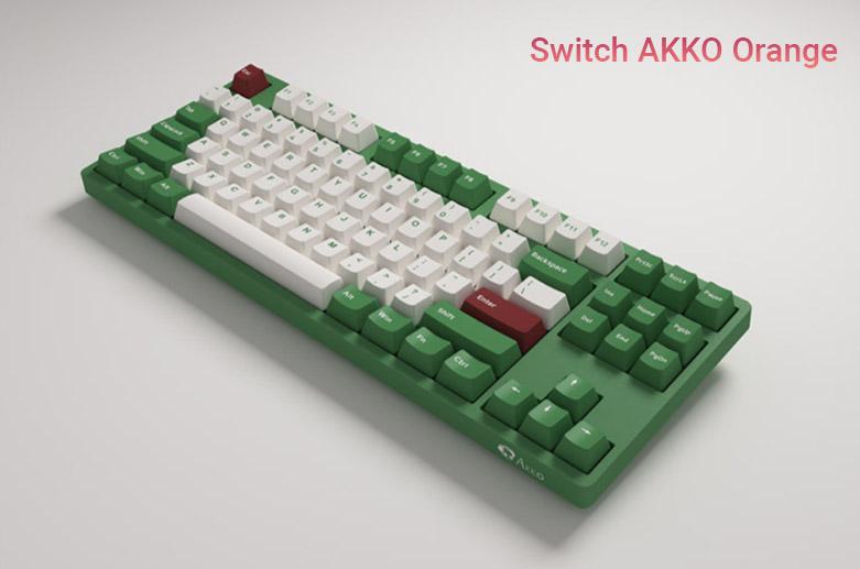 Akko 3087 v2 DS Matcha Red Bean (Akko Orange Switch V2) | Bàn phím cơ Akko 3087 v2 DS Matcha Red Bean