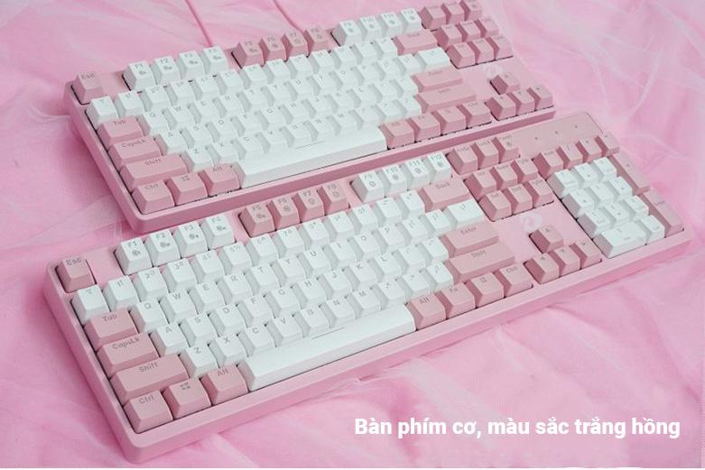 DareU EK1280s Brown D Switch (Trắng - Hồng) | Bàn phím cơ DareU EK1280s Pink
