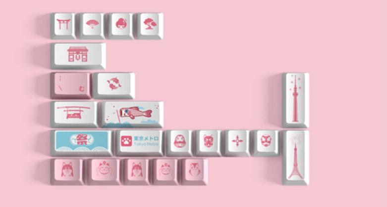Bàn phím cơ Akko 3096 World Tour Tokyo R2 Pink Switch   Keycap tặng kèm