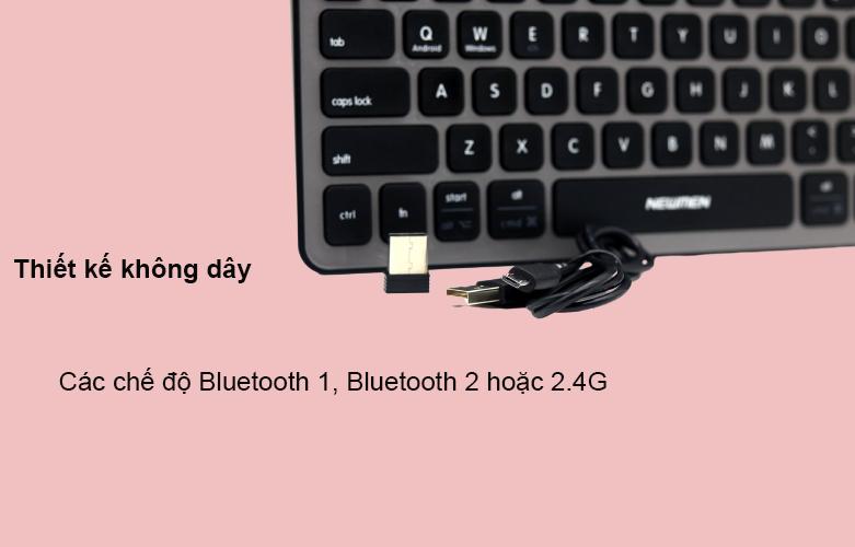Bàn phím không dây Newmen BT713 (Xám) | Kết nối không dây