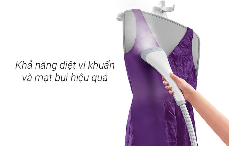 Bàn ủi hơi nước đứng Philips GC487 | Khả năng diệt vi khuẩn