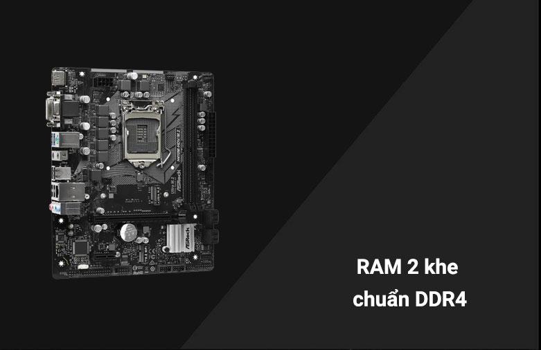 Mainboard Asrock H410M-HDV/M2 | 2 khe ram chuẩn DDR4