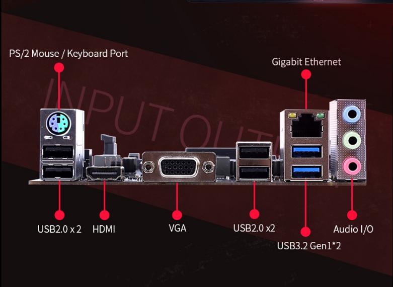 Mainboard Colorful H410M-K PRO V20 | Đa dạng cổng kết nối
