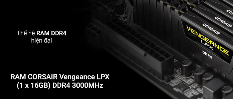 RAM Corsair Vengeance LPX Black (CMK16GX4M1D3000C16) | Thế hệ RAM DDR4 hiện đại