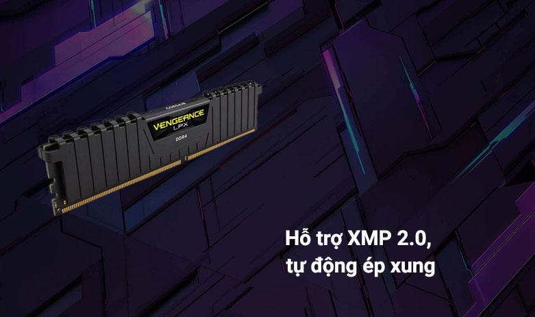 RAM Corsair Vengeance LPX 8GB (1x8GB) DDR4 3000MHz Black (CMK8GX4M1D3000C16) | Hỗ trợ XMP 2.0, tự động ép xung