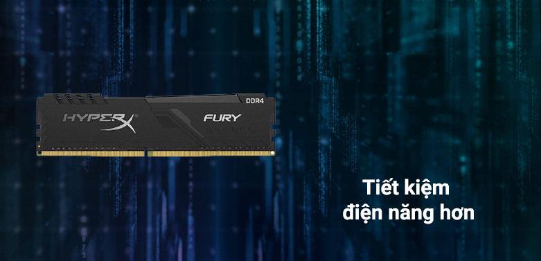 Ram DDR4 Kingston HyperX Fury Black 16GB (3200) (HX432C16FB4/16) | tiết kiệm điện năng hơn