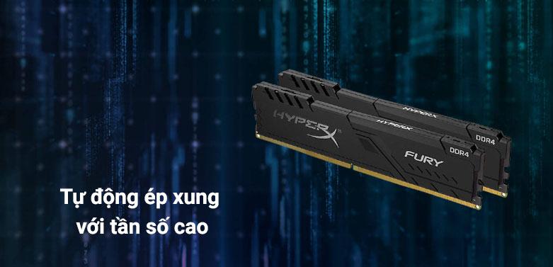 Ram DDR4 Kingston HyperX Fury Black 16GB (3200) (HX432C16FB4/16) | Tự động ép xung với tần số cao lên đến 3200MHz