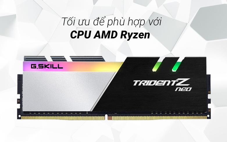 RAM G.Skill Trident Z Neo 64GB (2x32GB) DDR4 3600MHz (F4-3600C18D-64GTZN) | Tối ưu phù hợp với CPU