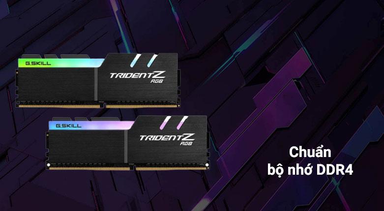RAM G.Skill Trident Z RGB 64GB (2x32GB) DDR4 3200MHz (F4-3200C16D-64GTZR) | chuẩn bộ nhớ DDR4 cho hiệu năng cao