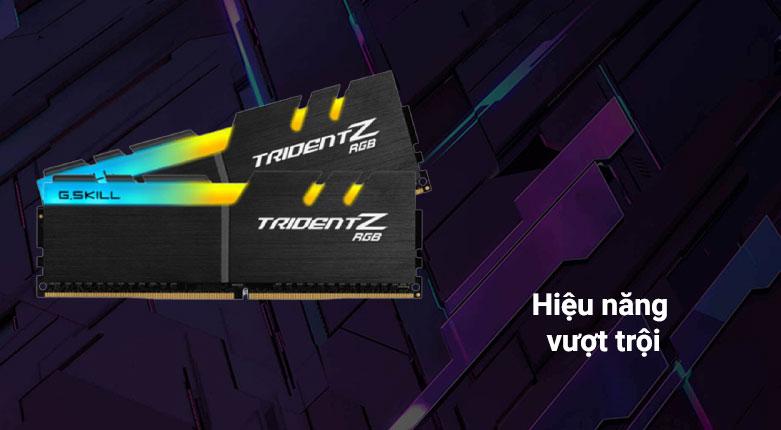 RAM G.Skill Trident Z RGB 64GB (2x32GB) DDR4 3200MHz (F4-3200C16D-64GTZR) | Hiệu năng vượt trội