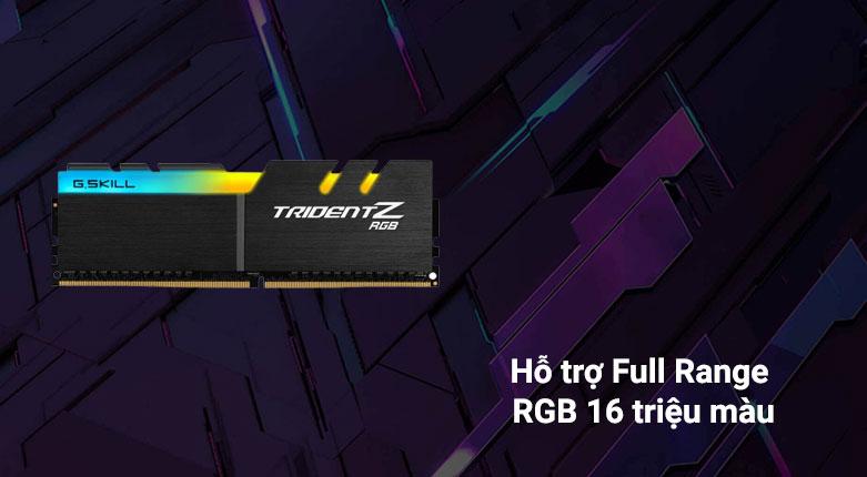 RAM G.Skill Trident Z RGB 64GB (2x32GB) DDR4 3200MHz (F4-3200C16D-64GTZR) | Hỗ trợ Full Range RGB 16 triệu màu