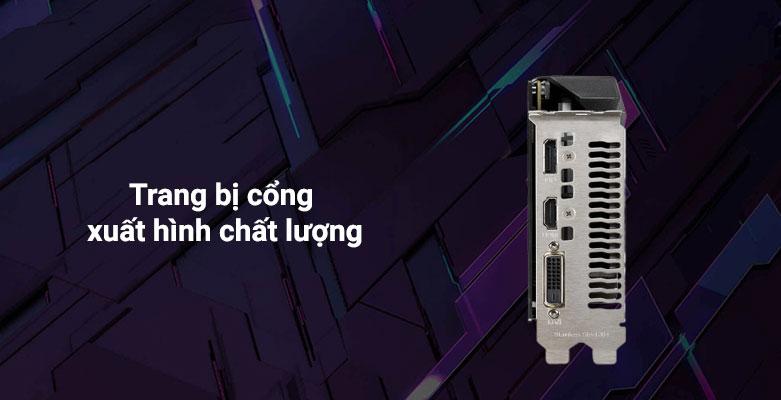 VGA Asus TUF Gaming GeForce GTX 1650 4GB GDDR6 | Trang bị cổng xuất hình chất lượng
