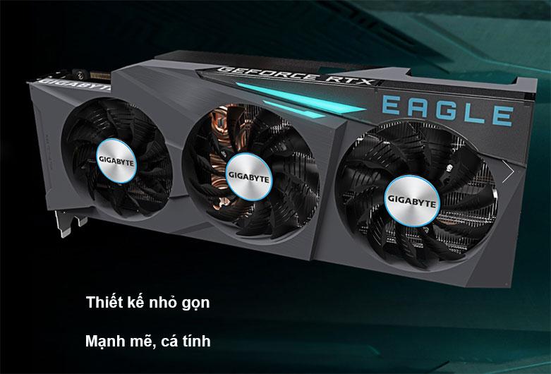 Card màn hình/ VGA Gigabyte GeForce RTX 3090 EAGLE 24G (GV-N3090EAGLE-24GD)   Thiết kế hỏ gọn