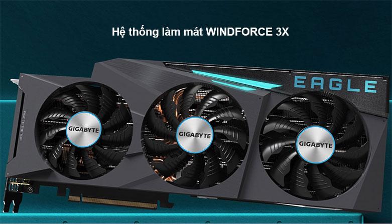 Card màn hình/ VGA Gigabyte GeForce RTX 3090 EAGLE 24G (GV-N3090EAGLE-24GD)   Hệ thống làm mát hiện đại