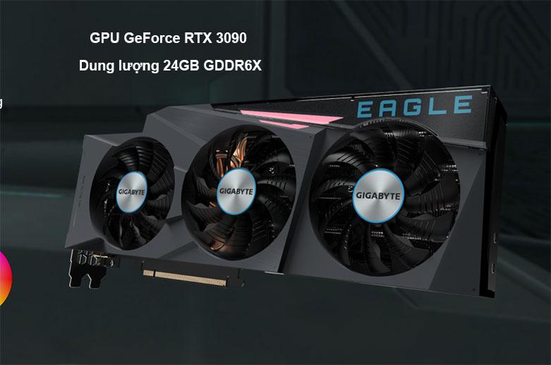 Card màn hình/ VGA Gigabyte GeForce RTX 3090 EAGLE 24G (GV-N3090EAGLE-24GD)   Dung lượng 24GB