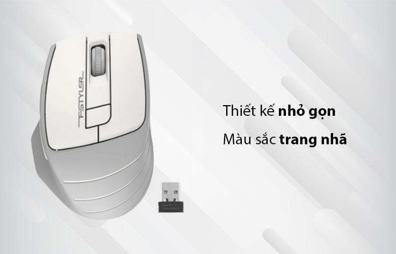 Chuột máy tính không dây A4Tech FG30S Silent (Trắng) | Thiết kế nhỏ gọn, màu sắc trang nhã