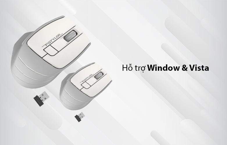 Chuột máy tính không dây A4Tech FG30S Silent (Trắng) | Hỗ trợ 1 số hệ thống Window và Vista, tiết kiệm năng lượng