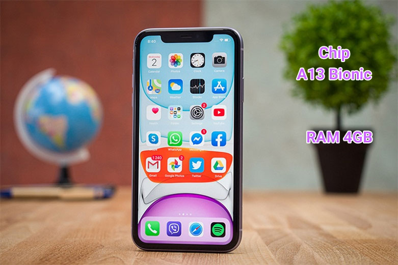 Điện Thoại Di Động iPhone 11 64GB (PURPLE) (MHDF3VN/A)   Hiệu năng mạnh mẽ
