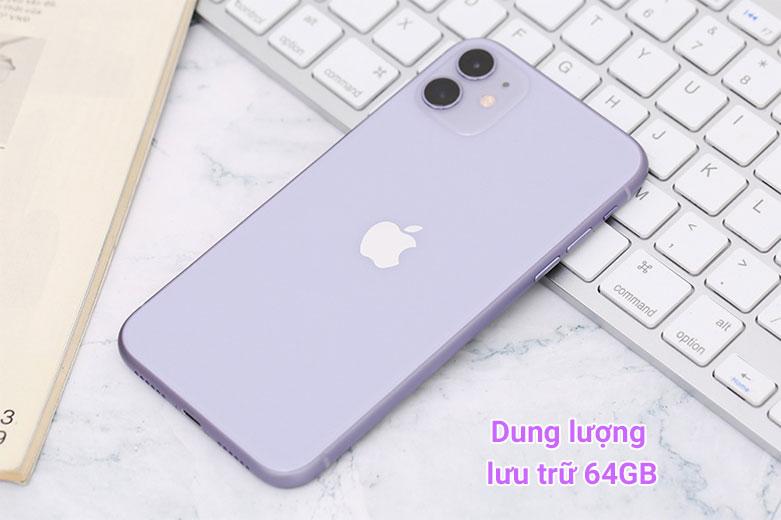Điện Thoại Di Động iPhone 11 64GB (PURPLE) (MHDF3VN/A)   Dung lượng lưu trữ 64 GB
