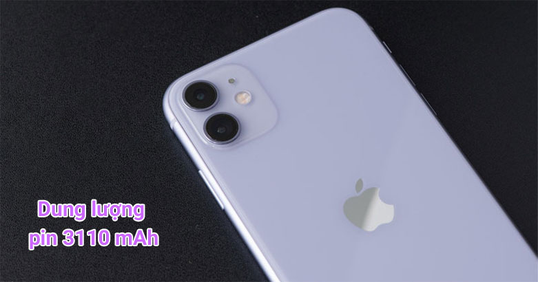 Điện Thoại Di Động iPhone 11 64GB (PURPLE) (MHDF3VN/A)   Dung lượng pin 3110 mAh