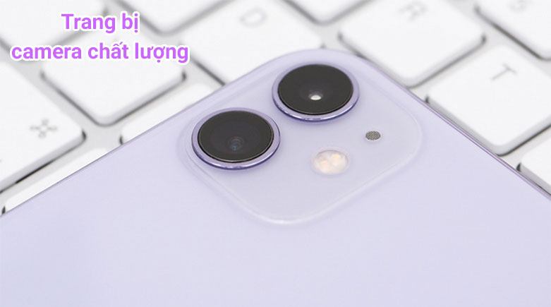 Điện Thoại Di Động iPhone 11 64GB (PURPLE) (MHDF3VN/A)   Trang bị camera chất lượng