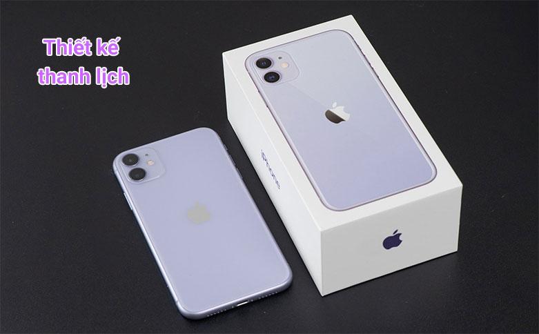 Điện Thoại Di Động iPhone 11 64GB (PURPLE) (MHDF3VN/A)   Thiết kế thanh lịch