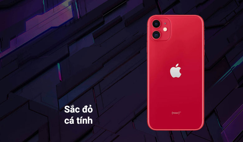 Điện thoại di động iPhone 11 64GB (RED) (MHDD3VN/A)   Sắc đỏ cá tính