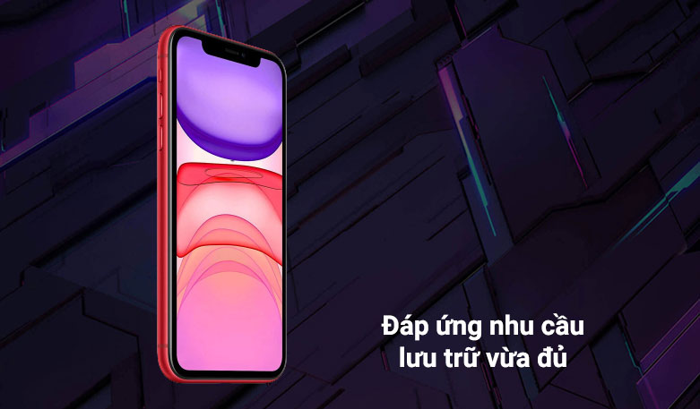 Điện thoại di động iPhone 11 64GB (RED) (MHDD3VN/A)   Đáp ứng như cầu lưu trữ vừa đủ
