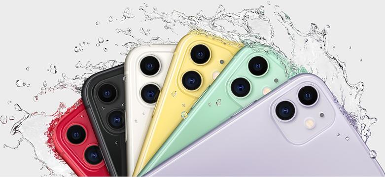 Điện Thoại Di Động iPhone 11 64GB (WHITE) (MHDC3VN/A) | Thiết kế mặt lưng bằng kính cao cấp