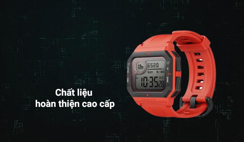 Đồng hồ thông minh Amazfit NEO (Đỏ) | Chất liệu hoàn thiện cao cấp