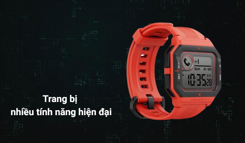 Đồng hồ thông minh Amazfit NEO (Đỏ) | Trang bị nhiều tính năng hiện đại