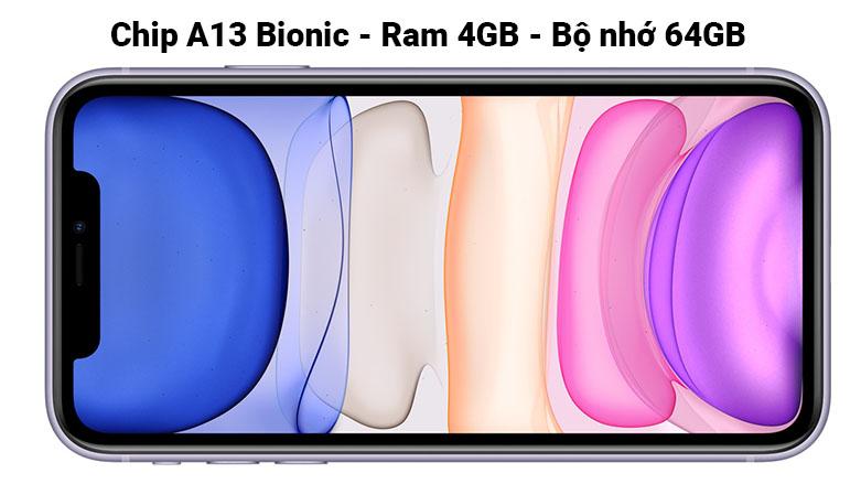 iPhone 11 64GB (BLACK) (MHDA3VN/A)   Chip hiện đại