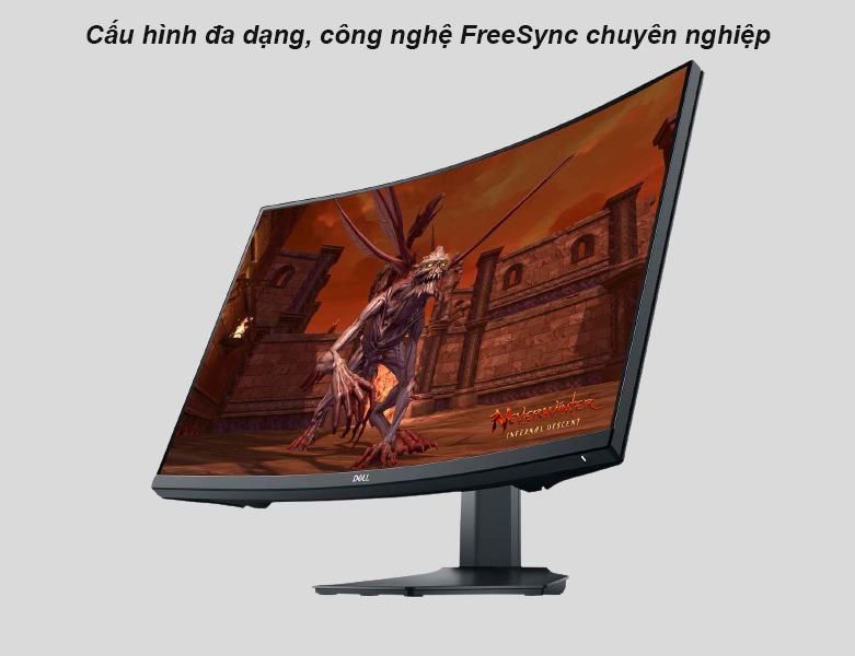 Màn hình cong Dell 27'' S2721HGF   công nghệ FreeSync