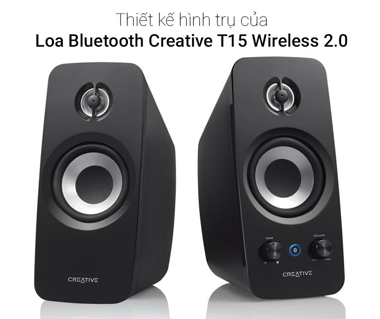 Loa Bluetooth Creative T15 Wireless 2.0 | Thiết kế hiện đại