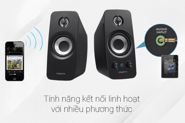 Loa Bluetooth Creative T15 Wireless 2.0 | Tính năng kết nối linh hoạt
