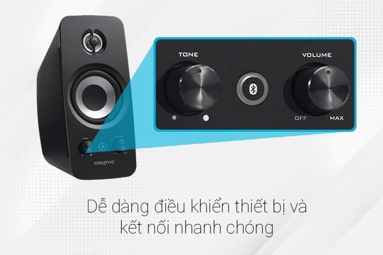 Loa Bluetooth Creative T15 Wireless 2.0 | Dễ dàng điều khiển thiết bị