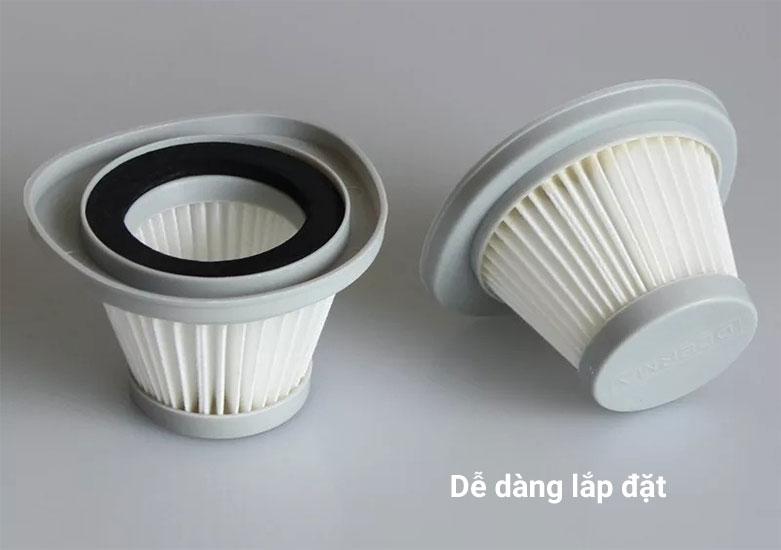 Lõi lọc Deerma Hepa DX118C-1   Dễ dàng lắp đặt