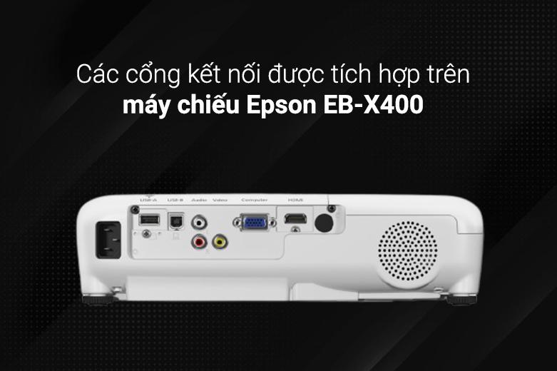 Máy chiếu Epson EB-X400 | Các cổng kết nối hiện đại