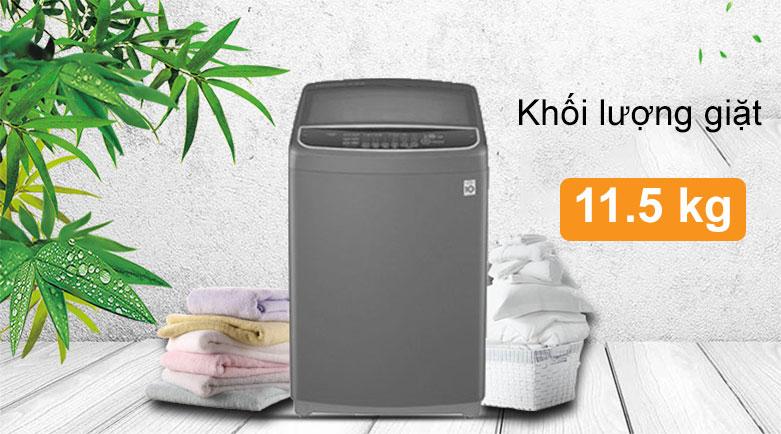 Máy giặt LG Inverter 11.5 kg T2351VSAB   Khối lượng giặt lớn