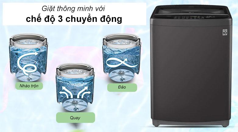 Máy giặt LG Inverter 11.5 kg T2351VSAB   Công nghệ giặt chuyển động thông minh Smart Motion 3