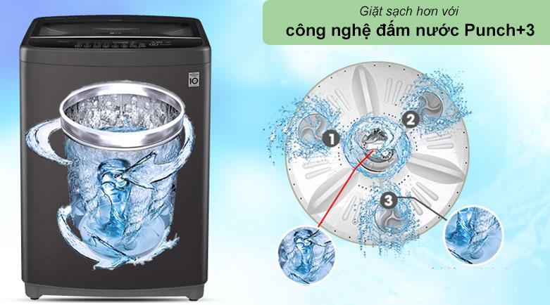 Máy giặt LG Inverter 11.5 kg T2351VSAB   Công nghệ đấm nước Punch+3