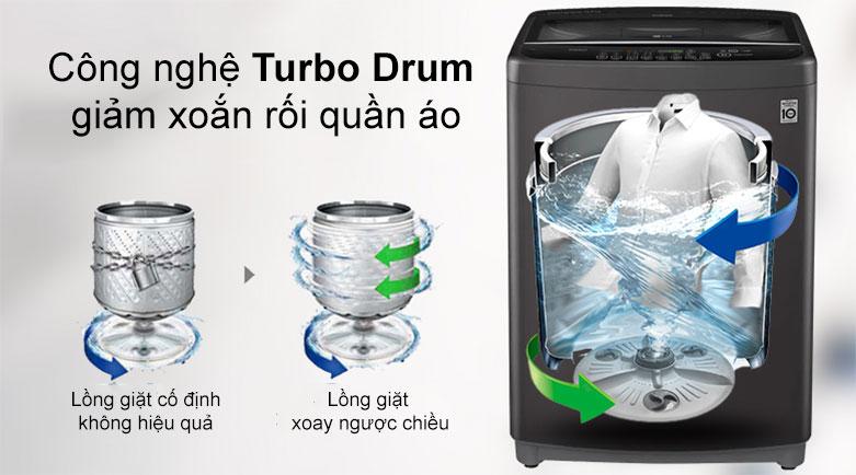 Máy giặt LG Inverter 11.5 kg T2351VSAB   Công nghệ Turbo Drum