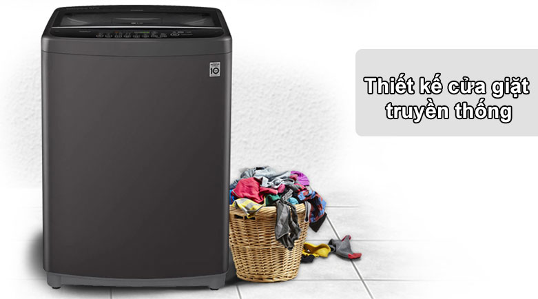 Máy giặt LG Inverter 11.5 kg T2351VSAB   Thiết kế cửa giặt truyền thống