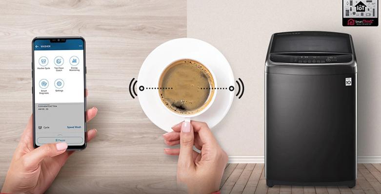 Máy giặt LG Inverter 11 kg TH2111SSAB | Ứng dụng SmartThinQ