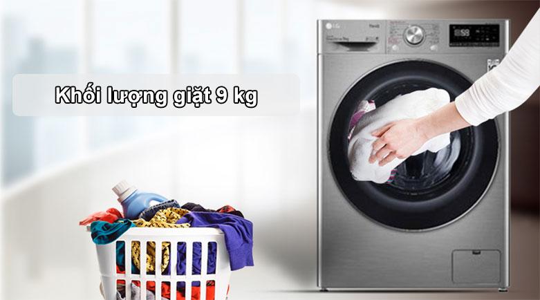 Máy giặt LG Inverter 9 kg FV1409S2V | Khối lượng giặt lớn