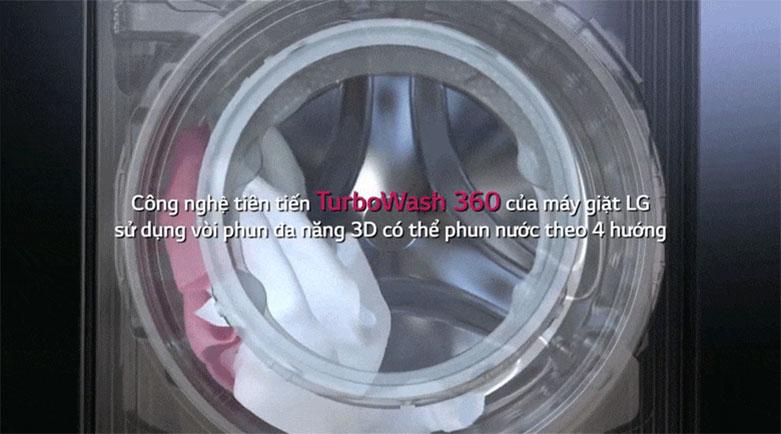 Máy giặt LG Inverter 9 kg FV1409S2V | Công nghệ giặt sạch TurboWash
